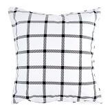 EOLINS Bantal Sofa Motif Kotak [JSPS002] - Black White - Bantal Dekorasi